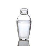 Hard disposable plastic cocktail shaker that is perfect for weddings and other special events. Made from heavy-weight plastic. Sold in retail and bulk wholesale.
