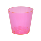 Quenchers 2 oz. Neon Pink Plastic Shot Glasses