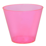 Quenchers 9 oz. Neon Pink Old Fashioned Plastic Tumblers