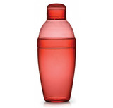 Quenchers 10 oz. Red Plastic Cocktail Shakers