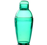 Quenchers 10 oz. Green Plastic Cocktail Shakers