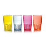 Quenchers 1.5 oz. Multi-Coloured Neon Plastic Shooters