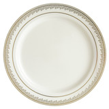 "Decor China-Like Prestige 10.25"" Cream-Gold Plastic Plates -10 Per Pkg"