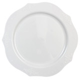 "Decor China-Like Antique White 9.5"" Plastic Plates - Case of 240"