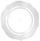 "Decor China-Like Antique Clear 9.5"" Plastic Plates - Pkg of 20"