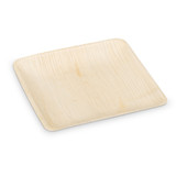 "Ecotrends 8"" Square Palm Leaf Plates - Case of 100"
