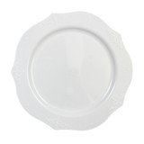 "Decor China-Like Antique White 8.5"" Thin Hard Plastic Plates - Pkg of 20"