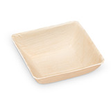 "Ecotrends 5"" Square Palm Leaf Soup Bowls - Case of 100"