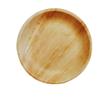 "Ecotrends 7"" Quality Palm Leaf Salad/ Dessert Round Plates"
