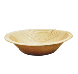 Eco-friendly palm leaf  round soup bowls.