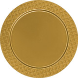 Décor Heavyweight Plastic Diamond Gold Chargers - Pkg of 2