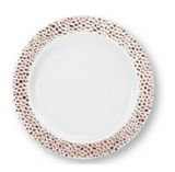"Lillian China-Like Pebbled Rose Gold 7"" Plastic Plates - Case of 120"