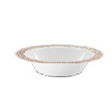 Lillian China-Like Pebbled Rose Gold 14 oz Plastic Bowls - Pkg of 10
