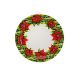 "Poinsettia Wreath 7"" Paper Plates"