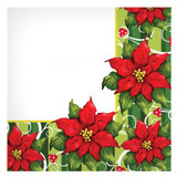 Poinsettia Wreath Lunch Napkins