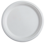 "Conserveware Bagasse (Sugarcane fiber) Eco-friendly 10"" White Round Plates-500/Case"