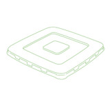"Conserveware 7"" Flat Clear Lids For Square Bagasse Bowls (All Sizes)-300/Case"
