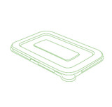"Conserveware 7"" x 4.5"" Flat Clear Lids For Rectangular  Bagasse Bowls (All Sizes)-600/Case"