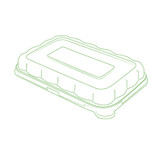 "Conserveware 7"" x 4.5"" Dome Clear Lids For Rectangular  Bagasse Bowls (All Sizes)-600/Case"
