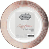 "Lillian Rose Gold 12 "" Plastic Plate Chargers - Pkg of 10"