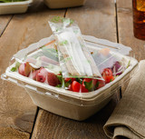 Conserveware Eco-Friendly Wrapped White CPLA Cutlery Kit (42CKFSK.WH)- 250/Case