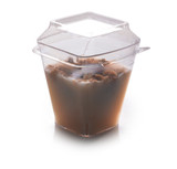Wavetrends 2 oz. Plastic Square Shot Glasses With Lids - Case of 432