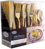 Lillian Polished Gold Cutlery Combo Box - 80 Forks, 40 Spoons, 40 Knives