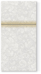 Rocco White Linen Like Napkins with Cutlery Pocket - 25  Per Package