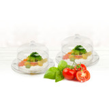 Decor Mini 3 oz Round Plastic Bowls With Dome Lids - Case of 120