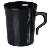Flairware 8 oz. Black Plastic Coffee Mugs - Case of 288