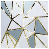 Lillian  Gold Mosaic Decorative Foil Stamped 2-ply Napkins-Pkg of 20