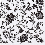 Arabesque White- Black 2-ply Lunch Napkins-Pkg of 20