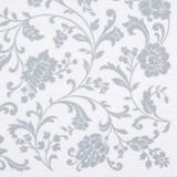 Arabesque White- Silver 2-ply Lunch Napkins-Pkg of 20