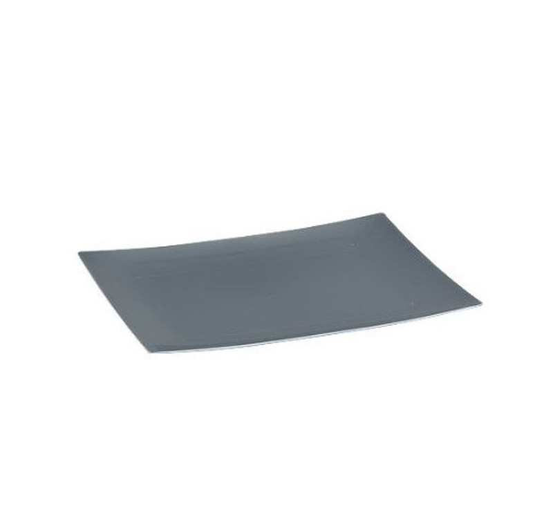 Elegant Lillian rectangle disposable plates. Perfect for a classy dinner parties or weddings. These are made from heavyweight plastic. Sold in wholesale bulk and retail.