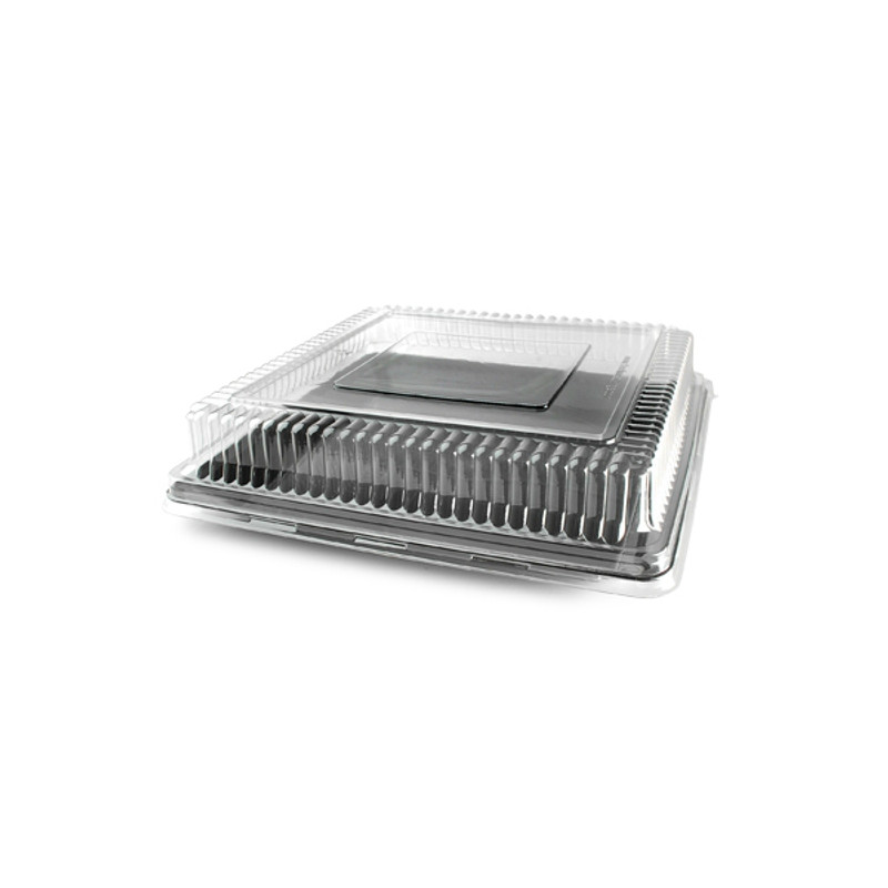 This great serving tray lid is made from heavy-weight plastic. Perfect for weddings, and other special occasions. Made from recyclable plastic and BPA free. Sold in wholesale bulk and retail