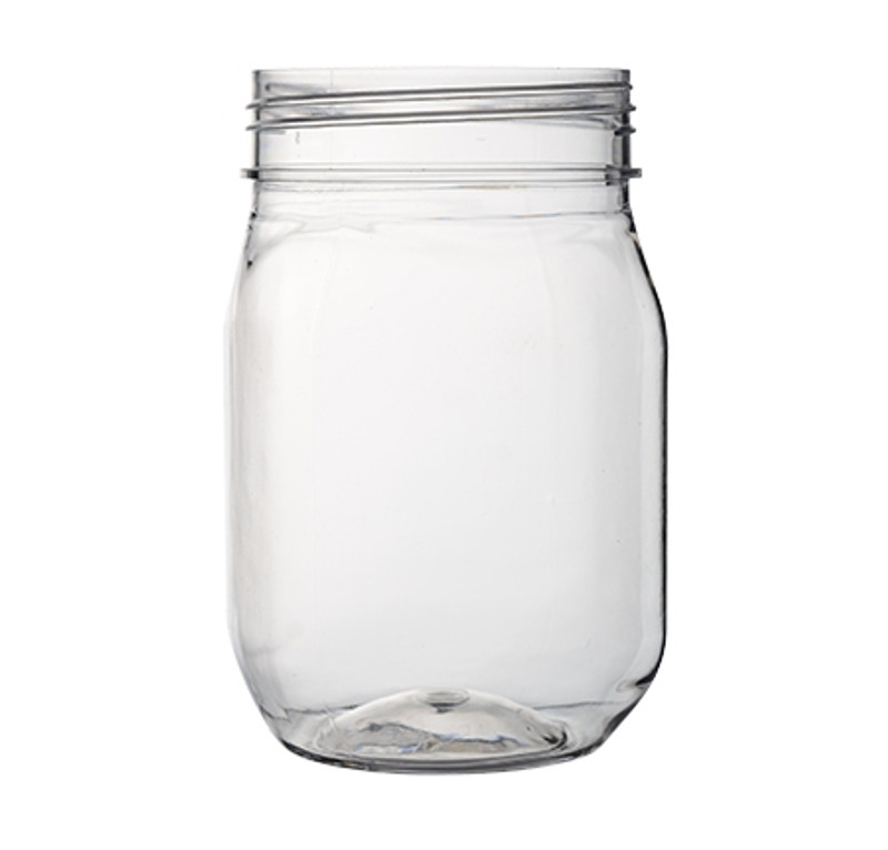 PLASTIC CLEAR 16 OZ MASON JARS