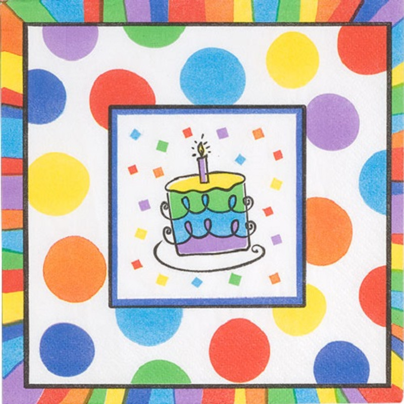 Beautiful paper napkins great for birthdays. Sold in wholesale bulk and retail.