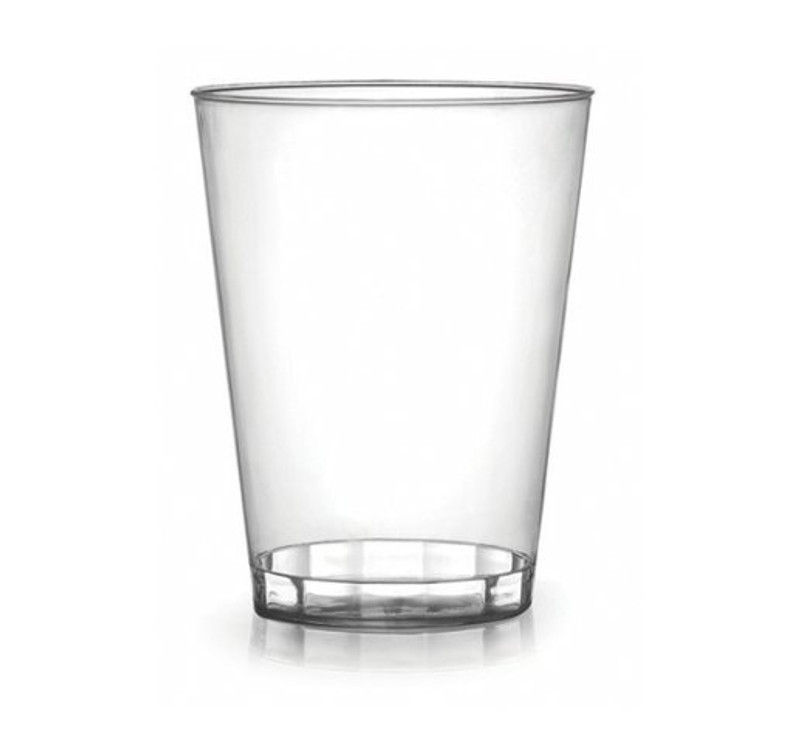 Hard disposable plastic cups great for weddings and other special events. Sold in wholesale bulk and retail.