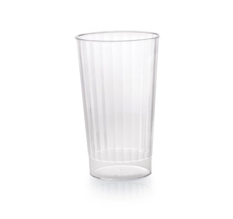 Hard disposable plastic cups great for weddings and other special events. Made from heavy-weight plastic. Sold in wholesale bulk and retail.