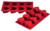 Heart - 3 oz - 8 pc per tray - Silicone - Fat Daddio's