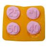 Flexible Mold -Anniversary - 4  pc per mold
