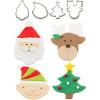 Cutie Cupcake- Christmas  (Set of 4)