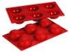 Hemisphere - 2.7 oz - 6 pc per tray - Silicone - Fat Daddio's