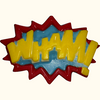 WHAM! Superhero Lingo - Plastic Chocolate Mold