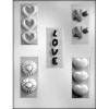 Love with Hearts Bar - Plastic Chocolate Mold
