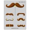Mustache Styles Assortment - Plastic Chocolate Mold