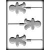 Gingerbread Boy - Lollipop - Hard Candy/Chocolate Plastic Mold