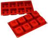 Square, Dimpled - 2.5 oz - 8 pc per tray - Silicone - Fat Daddio's