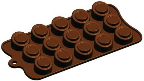 Cylinder, Sloped - 15 pc per mold - Silicone Mold - Fat Daddio's