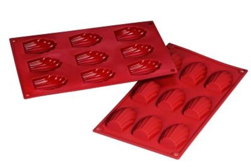 Madeleine - 1 oz - 9 pc per tray - Silicone - Fat Daddio's